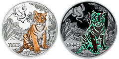 3 Euro Münze Tiger