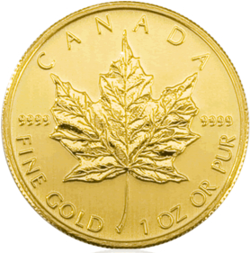 Maple Leaf Gold Münze Aus Kanada