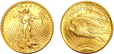 Gold coins from the USA