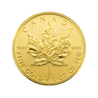 Maple Leaf Goldmünze 1 OZ Rückseite